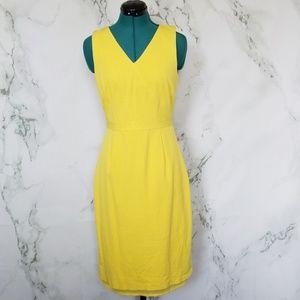 J. Crew Yellow Sheath Dress